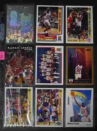 Michael Jordan Trading Cards Lot of 9
