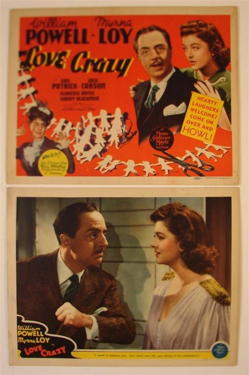3: LOVE CRAZY TITLE CARD AND LOBBY CARD