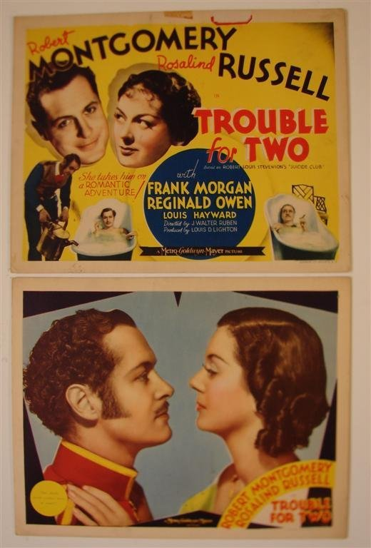 5: TROUBLE FOR TWO TITLE & LOBBY CARD