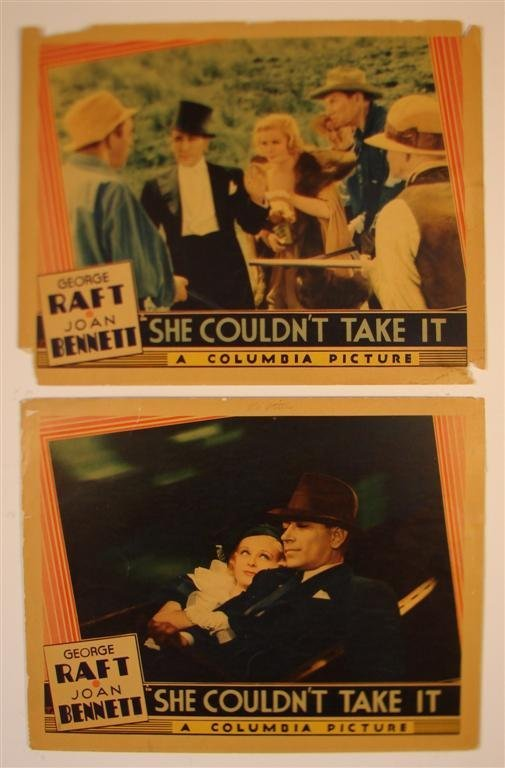9: SHE COULDN'T TAKE IT LOBBY CARDS