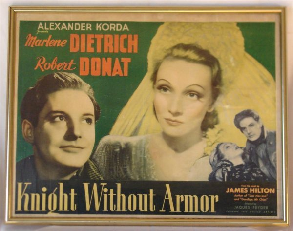 15: KNIGHT WITHOUT ARMOR 1/2 SHEET MOVIE POSTER