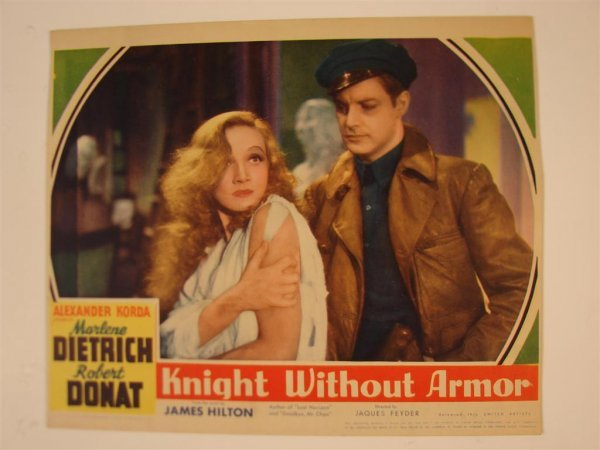 19: KNIGHT WITHOUT ARMOR LOBBY CARD
