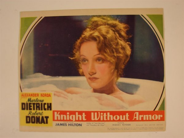 20: KNIGHT WITHOUT ARMOR LOBBY CARD