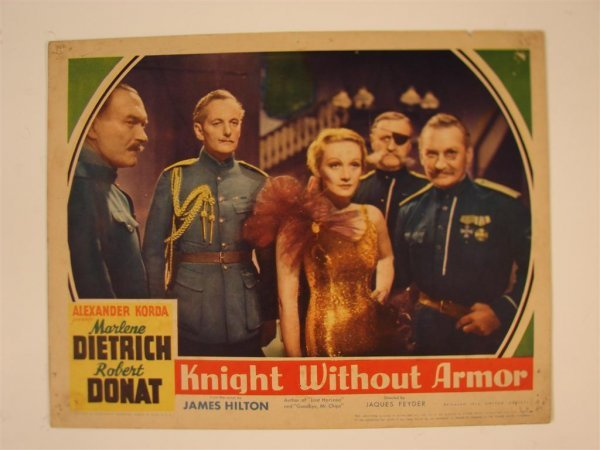 21: KNIGHT WITHOUT ARMOR LOBBY CARD