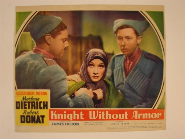 22: KNIGHT WITHOUT ARMOR LOBBY CARD