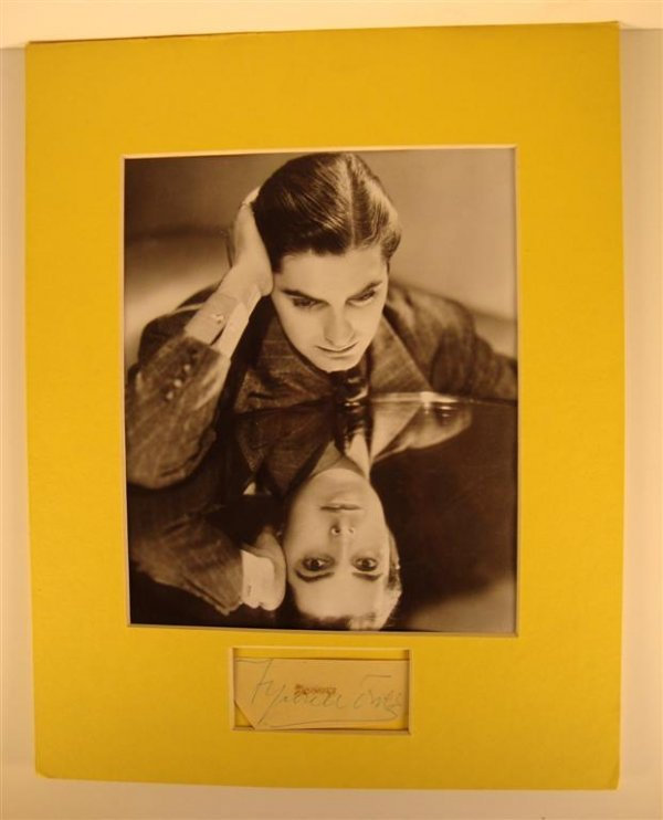 352: TYRONE POWER PHOTO AND AUTOGRAPH