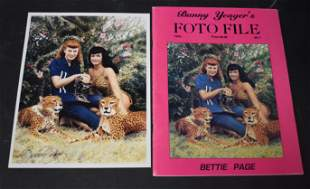 (1) Foto File Magazine. (1) Photo Of Bunny Yeager &