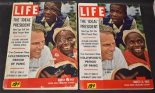 (2) Life Magazines. March 21, 1960