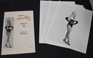 (1) 4th Annual Artist Models Ball Program. (4) 8x10