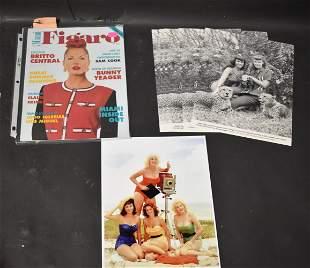 (1) Figaro Magazine. (8) Photos Bunny Yeager & Bettie