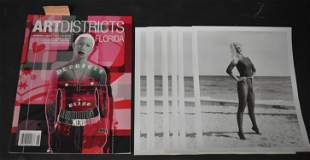 """(1) Magazine,"""" ART DISTRICTS"""". (7) Photos Bunny Yeager."""
