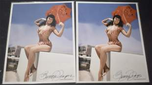 Bunny Yeager Sgd. Bettie Page Photos (2)