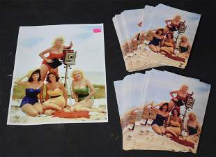 (1) 8x10 Photo Bunny Yeager & Models. (75)+ Postcards