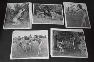 (50)+ Photos Bettie Page in Jungle Land.(1) Photo Sgd.