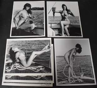 (6) 8x10 Photos Bettie Page (3) Sgd.