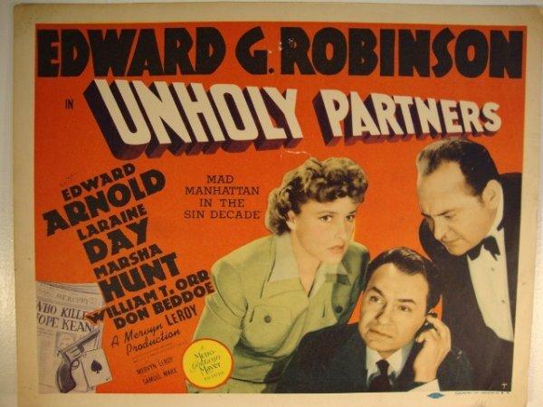 9: UNHOLY PARTNERS LOBBY CARD & TITLE CARD