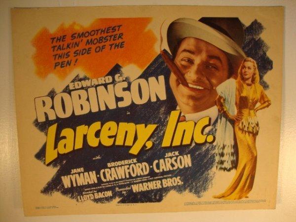 11: EDWARD G. ROBINSON TITLE CARD & LOBBY CARD