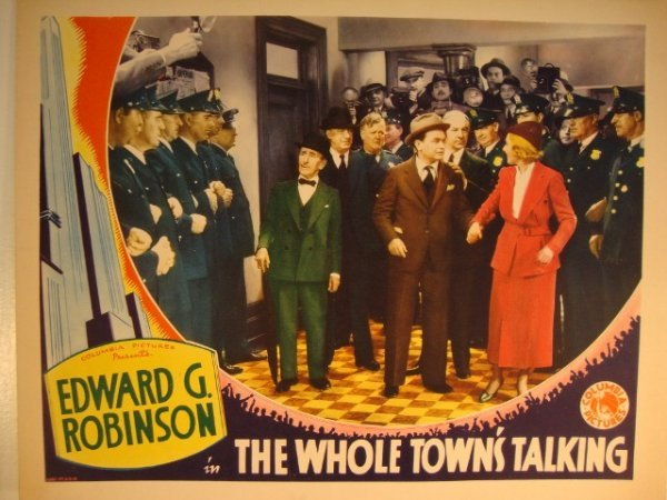 14: THE WHOLE TOWN'S TALKING LOBBY CARD