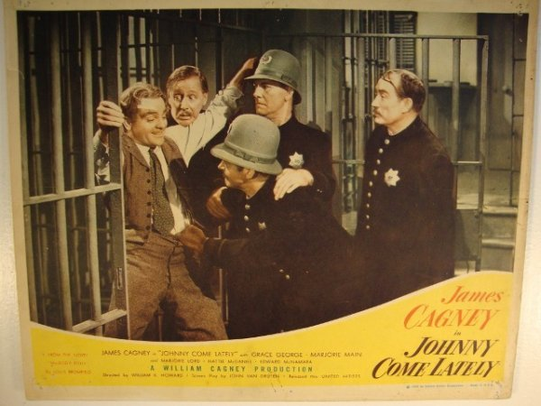 15: JOHNNY COME LATELY LOBBY CARD