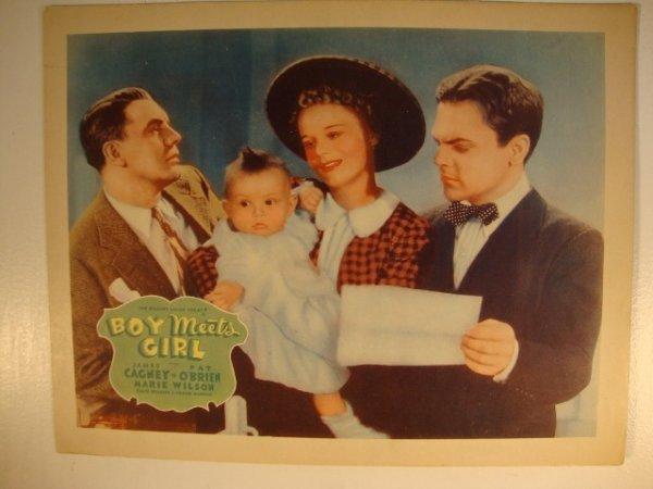 17: BOY MEETS GIRL LOBBY CARD & TITLE CARD
