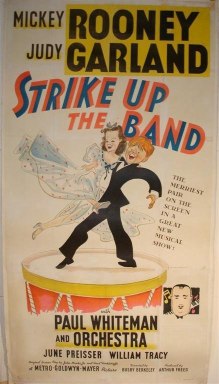 145: STRIKE UP THE BAND MOVIE POSTER