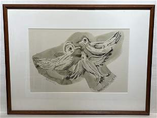 Konrad Kramer; 20thC. Modernist Watercolor Signed
