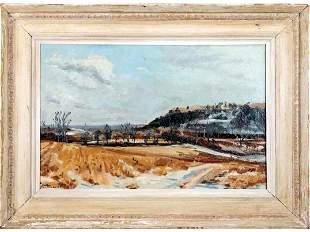 Robert Buchanan; 20thC. American Oil Winter Scene