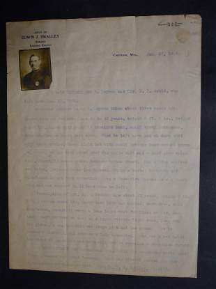 1908 Sheriff Smalley Laramie Co Wyo Notice