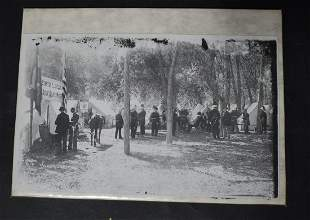 Photo. Uniformed Men Stanton Lincoln Hdqtrs.