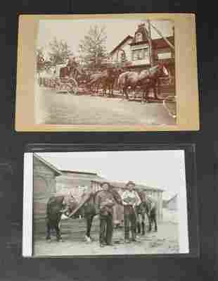 Western Photo. Stagecoach & Vintage Western Postcard