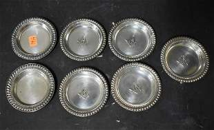 Collector's Lot of Masonic Silverplate Plates (7)