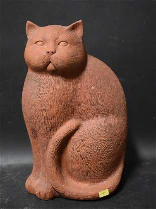 Amusing Charming Cat Clay Figure