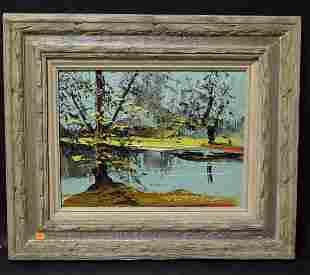 Morris Katz Oil. Landscape. Sgd.
