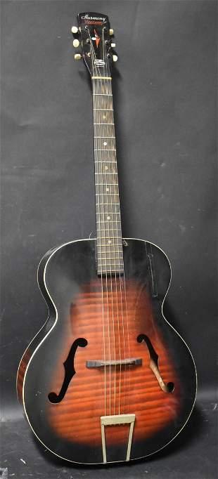 Antique Harmony Monterey Acoustic Guitar