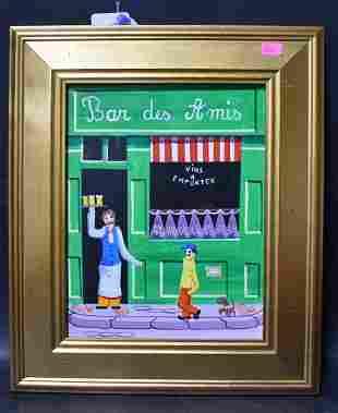 Enchanting Modern Folk Art, Paris Street