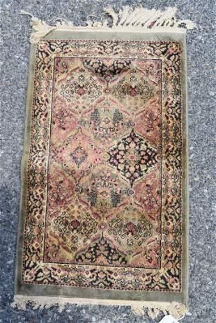 Antique Persian Silk & Cotton Table Rug
