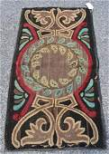 Early Amer. Hooked Rug C. 1900