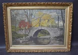 Landscape Oil Sgd. Louise McNach