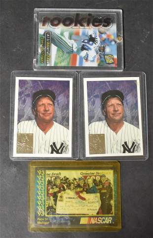 Two Mickey Mantle Cards & Two Others