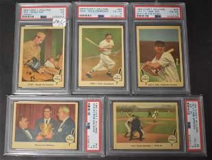 1959 Fleer Lot of Five Ted Williams
