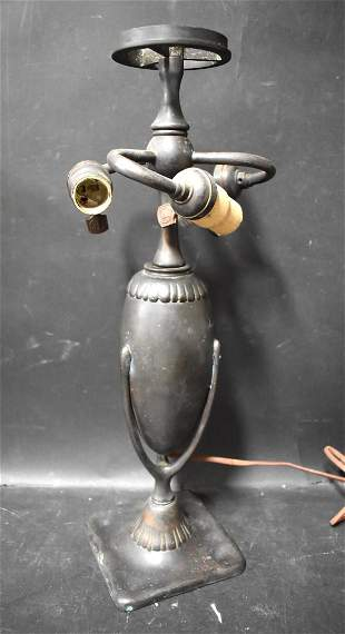 Tiffany Furnaces Bronze Lamp Base Sgd.