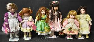 Collector's Bisque Head Doll Lot (6)