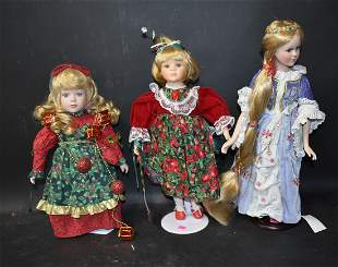 Collector's Bisque Head Doll Lot (3)