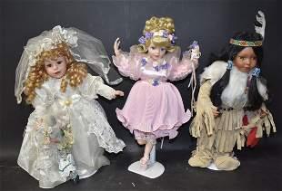 Collectors Bisque Head Doll Lot (3)