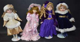 Collector's Bisque Head Doll Lot (4)