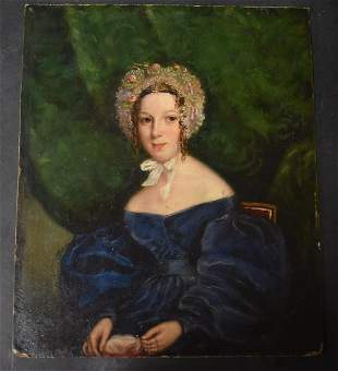 William Pell Scott; 19thC. British Oil Portrait Signed