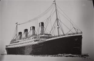 Titanic Ltd. Edition Ship Lithograph, Sgd.