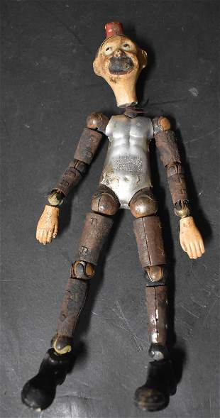Cast Iron Articulated Character Figure