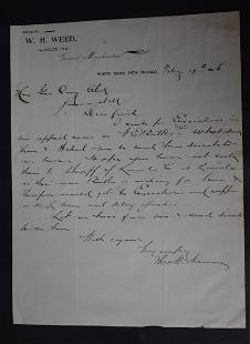 W.H. Weed 1896 New Mexico ALS
