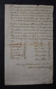 1741 Handwritten Document